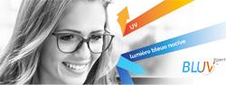 Les verres BLUV Xpert de BBGR Optique protègent les yeux des porteurs de lunettes contre les UV et la lumière bleue nocive issue des lumières artificielles et des outils numériques : écrans d'ordinateur, télévisions, tablettes, consoles de jeux