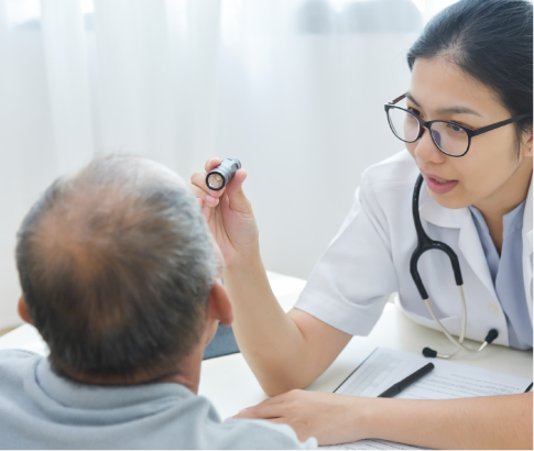 BBGR examen de vue dépistage maladie de l'œil cataracte