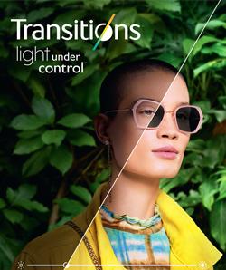 Transitions les verres optiques intelligents de BBGR Optique qui s'adaptent à la lumière pour les porteurs de lunettes sensibles à la lumière. Les verres Transitions foncent à la lumière comme des verres solaires, même derrière un pare-brise et protègent contre les UV et la lumière bleue nocive